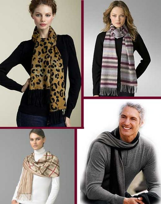 how to wear a silk scarf around your neck